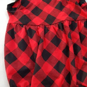 New Red/Black Check Waisted Romper