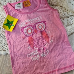 New Pink Owl Top