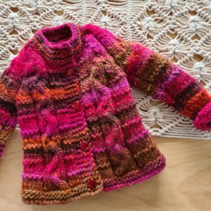 New Hand Knitted Multi Colour Jacket